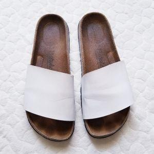 Birkenstock Betula white sandals slides cork 38 7